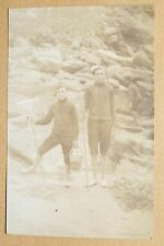 CARTE PHOTO - ENFANTS PECHEUR - EPUISETTE SEAU PLAGE