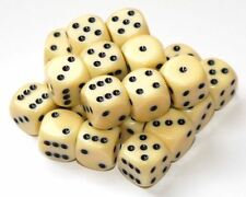 24 Ivory Coloured Dice, (six sided), 16mm , D6