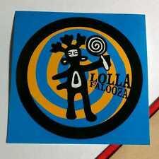 LOLLAPALOOZA LOLLA PALOOZA JURASSIC INCUBUS DONNAS AUDIOSLAVE LIGHT BLUE STICKER