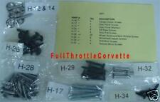 1977 Corvette Interior Screw Kit