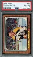 1966-67 TOPPS #95 MURRAY OLIVER PSA 6 BRUINS  *DS7778