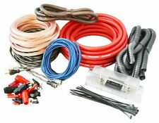 SoundBox T4AW-R, 4 Gauge Amplifier Install Kit Complete Amp Wiring Cables, 3500W