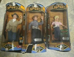 1997 RARE set of 3 Beverly Hillbillies Dolls. New with original fair packaging.