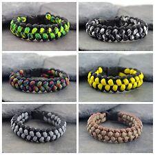 Stitched Cobra Weave Paracord Survival Bracelet Friendship Bracelet UK