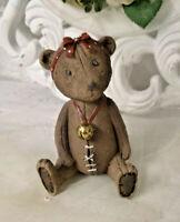 Bär Deko Figur 7x7x10cm Weihnachten Christmas Shabby Vintage Landhaus