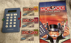 Monopoly Electronic Banking 2007 Banking Card Unit & Instructions & 3 Cards