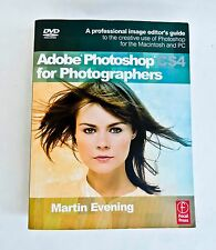 ADOBE PHOTOSHOP CS4  FOR PHOTOGRAPHERS BY MARTIN EVENING SOFT COVER WITH DVD