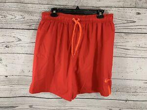 Nike Mens Red Orange Swoosh Swim Trunks Shorts Size XL X-Large NWT