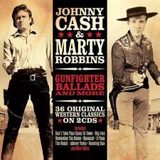 JOHNNY CASH & MARTY ROBBINS - GUNFIGHTER BALLADS & MORE  2 CD NEUF