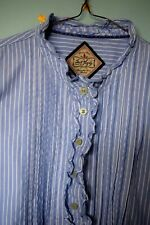JACK MURPHY  blue stripes victoriana blouse