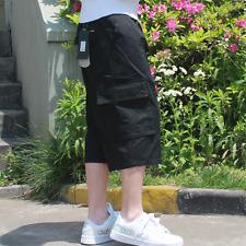 Men's Loose Cargo Shorts Casual Classic Flat Classic Short Cropped Pants Sbox1