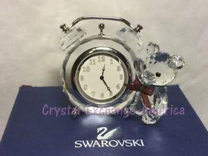Swarovski Crystal Kris Bear Clock - 212687 - Retired in 2002 MIB