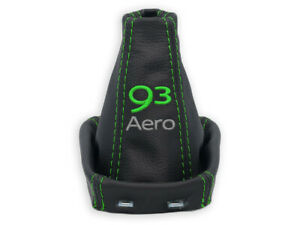 FOR SAAB 93 9-3 02-16 GEAR SHIFT BOOT GAITER LEATHER EMBROIDERY 93 Aero GREEN