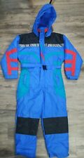 VTG 90s Apparatus One Piece Snow Snowmobile Ski Suit Color Block Youth Size 12