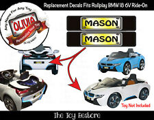 Personalize License Plate Sticker Fits Rollplay Bmw I8 Car 6V Battery-Powered