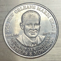 1968 Krewe Of Crescent City's Mayor of New Orleans Morrison Mardi Gras Doubloon
