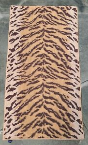 RARE~RALPH LAUREN~2 Bath Towels~1Hand Towel~Exotic Animal Print Tiger~Brown Gold