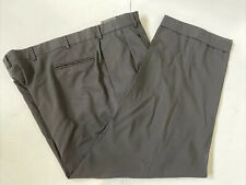 Jos.A.Bank Men's Big and Tall Black Solid Wool Dress Pants 43X28 $125