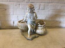 Vintage Austrian Ernst Wahliss Porcelain Doebrich Boy with Baskets Figurine