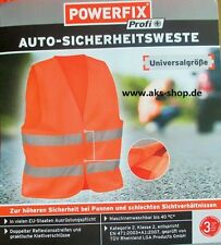 Gilet de Sécurité Orange citrouille Pannes Accident NEWFREN 471: 2003