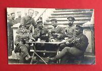 Militär Foto AK 1. WK 1916 Deutsche Soldaten beim Skat spielen Typen  ( 44390