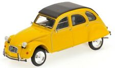 1980 Citroen 2CV in Yellow with Closed Roof 1:43 Scale Minichamps 400-111502