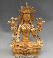 Chinese Buddhism Bronze Copper green Tara Kwan-Yin Guan yin Bodhisattva Buddha