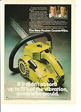 "Vintage 1975 POULAN Super XXV CounterVibe CHAIN SAW Color Advertisement 8"" x 11"""