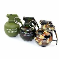 Mini Camo Hand Grenade Metal Refillable Lighter W/ Regular Flame - Free Shipping