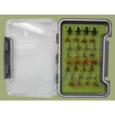 32 Traditional Dry Trout Flies in a Silicone Insert Box, Named Flies Fly Fishing