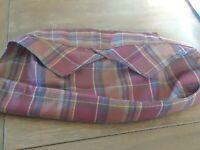 Longaberger  Liner for the Small Oval Gathering Basket ~ Toboso Plaid ~ EUC