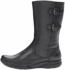 Clarks BNIB Ladies Mid Calf Boots KEARNS RAIN Black Leather UK 6 / 39.5 RRP £80