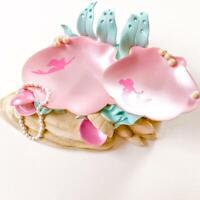 Disney Store The Little Mermaid Ariel Accessory Tray Figure Sea Shells Pink ver