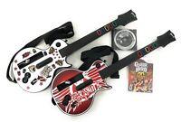 Wii Guitar Hero Bundle Wireless 2 Guitars Les Paul Aerosmith Legends Of Rock