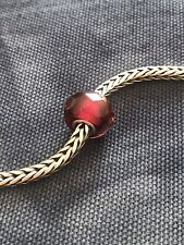 Genuine Trollbeads Red Pink Prism Bead - Retired As Of 2008 / Rare