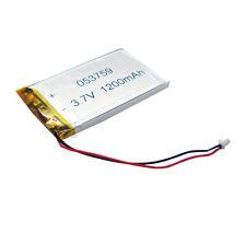 3.7V 1200 mAh Li-polymer rechangeable Battery Connector Li-Po 053759 for GPS