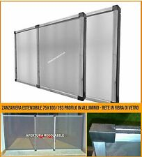 Zanzariera estensibile finestra grande 75x100/193 telaio regolabile allungabile