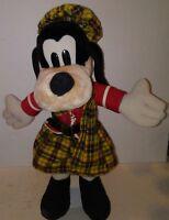 Goofy Scottish Kilt Plaid Tartan Disneyland Disney World Scotland Plush Doll VTG