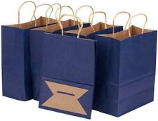 Benecreat 30 Pack Dark Blue Kraft Paper Bags with Twisted Handles(8.25x4.35x10.5