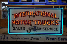 "International Motor Trucks Sales Service Neon Sign . Oval 24"" by 48"". Awesome!"