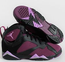 NIKE AIR JORDAN 7 RETRO GG BLACK-MULBERRY SZ 6Y-WOMEN SZ 7.5 [442960-009]