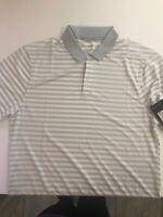 NIKE Victory Stripe Polo Golf Shirt Dri fit - FREE Shipping