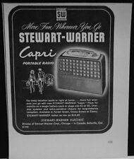 1953 Stewart-Warner Capri Portable Radio print ad