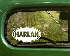 2 HARLAN COUNTY KENTUCKY DECALs Oval Sticker for Car Laptop Truck Window