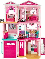 Barbie 3 Story Dreamhouse Townhouse Dollhouse 4FT Tall Fully Furnishes NEW DHC10