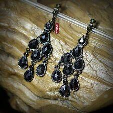 b0bf5c9c7242 Pendientes Clips Plateado Negro Araña Estilo Vintage Boda E8