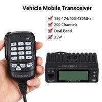 25W Mini 200CH Dual Band Car Mobile Ham Amateur Radio Walkie Talkie Transceiver