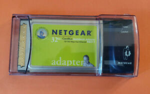 Netgear CardBus Notebook Laptop PCMCIA Network Adapter 10/100 Mbps FA511 v2