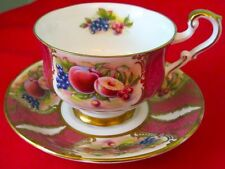 Paragon Fancy Orchard Fruit Fine Bone China Cup And Saucer HANDPAINTED 1950s