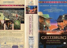 GETTYSBURG - 2 x VHS - Widescreen - PAL -NEW -Never played! -Original Oz release